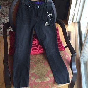 Indigo Rein Embellished Stretch Jeans Never Used